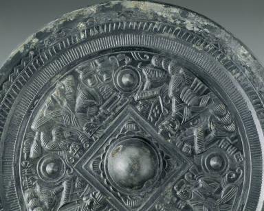 Bronze Mirror with mythical figures
