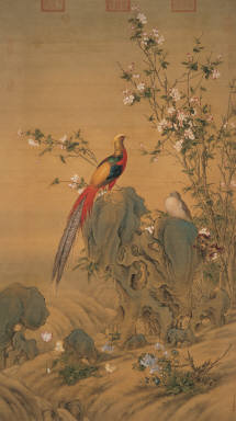 Beautiful Spring (Pheasants and Flowers)
