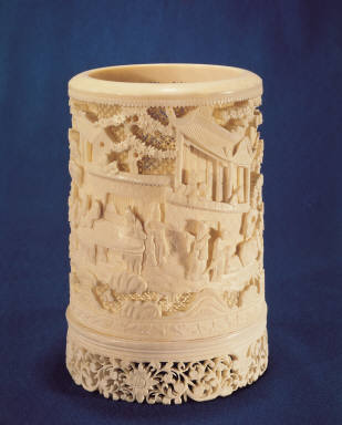 Ivory brush-holder of persons